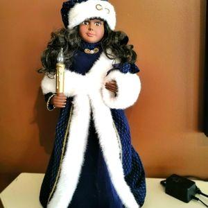 "Vintage rare Telco African christmas caroler 24"""